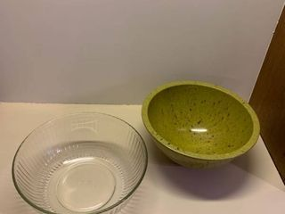 Set of two large bowls one Pyrex
