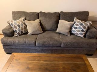 Ashley couch in gray 90 x 32 x 40