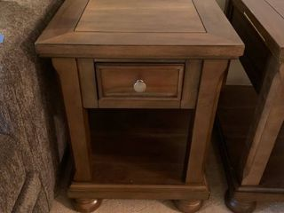 One drawer side table