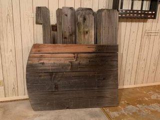 Scrap wood fencing