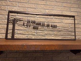 Bird on a wire wall art 18 x 46