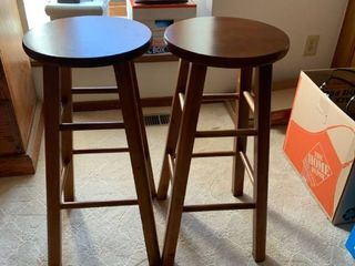 Set of two barstools approximately 3 feet high