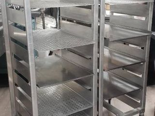 Double Sided Commercial Pan Rack  Contents Not Included