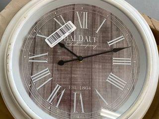 Allen   Roth Patton Wall Decor 16in Driftwood Clock