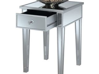 Talmadge Mirrored End Table w  Drawer
