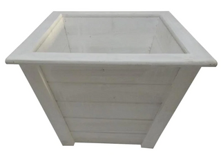 Style Selections Outdoor Planter White Set of 2