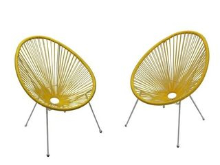 Two Yellow Acapulco Patio Chairs