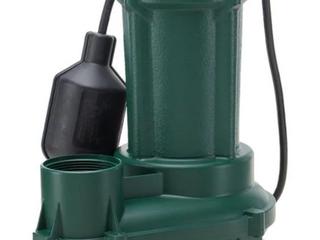 Zoeller 0 33 hp Cast Iron Sewage Sump Pump