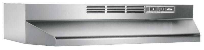 Broan   30in Recirculating Range Hood   Stainless steel