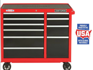 CRAFTSMAN 2000 Series 41 in W x 37 5 in H 10 Drawer Steel Rolling Tool Cabinet  Red