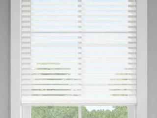 Project Source 1in Cordless Vinyl Mini Blind
