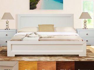 Trent Wooden Platform Bed   Queen Retail 441 49