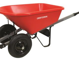 Craftsman 6 CFT Poly Tray Wheelbarrow w  Steel Handles