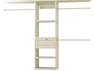 Allen   Roth Ventilated Closet Kit Antique White