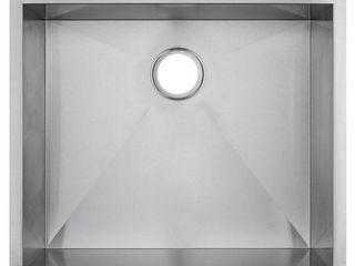 Fine Fixtures Handmade Undermount Stainless Steel Single Bowl Sink 21W x 17D