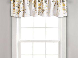 lush Decor Weeping Flower Room Darkening Window Curtain Valance