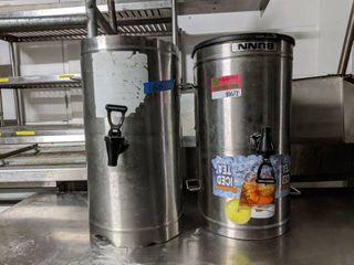 2  Bunn Beverage Dispensers