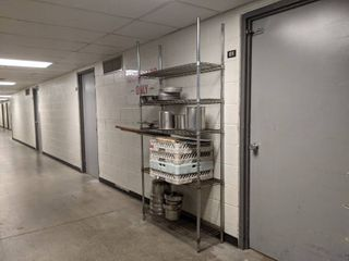 Shelving And Contents  Buyer Responsible For Removal