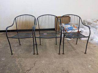 3  Patio Chairs