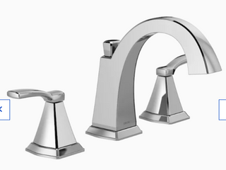 Delta Flynn 2 Handle Widespread Bathroom lavatory Chrome Faucet 35768lf