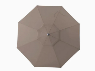 Simply Shade Cantilever Umbrella 11Ft   Greige   With Base