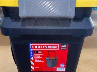 Broken Handle  Craftsman 5Gal Storage Bucket