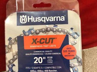 Husqvarna 581643604 X cut Sp33g 20  Chainsaw Chain  Grey