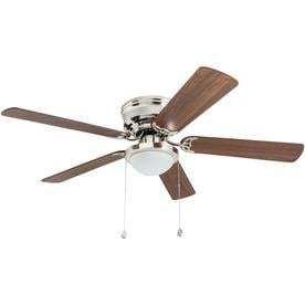 Harbor Breeze Armitage 52 in Brushed Nickel Indoor Flush Mount Ceiling Fan with light Kit
