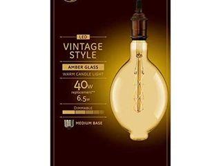 GE lED Vintage 40 Watt EQ BT56 Amber Dimmable Edison light Bulb