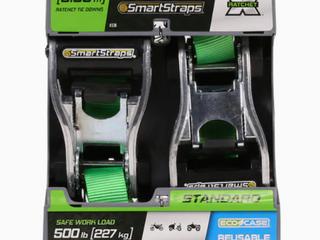 SmartStraps 10ft Ratchet Tie Downs  2 Pack