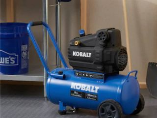Kobalt 8 Gallon Single Stage Portable Electric Horizontal Air Compressor
