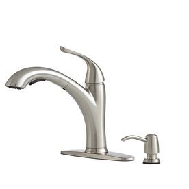 Giagni Abete Stainless Steel 1 Handle Pull Out Kitchen Faucet