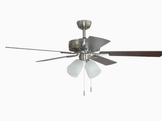 Harbor Breeze Grace Bay 52 in Brushed Nickel led Indoor Ceiling Fan  5 blade