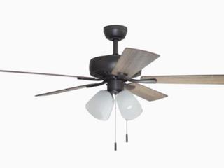 Harbor Breeze Grace Bay 52 in Bronze led Indoor Ceiling Fan W  light Kit