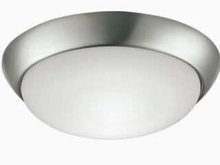 Project Source 11 in W Brushed Nickel led Flush Mount light Energy Star