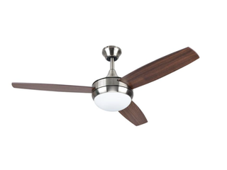 Harbor Breeze Beach Creek 44  Brushed Nickel lED Ceiling Fan    MISSING PARTS lISTED IN PHOTO