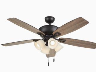 Harbor Breeze Notus 52 in Ceiling Fan led Indoor light Kit Strong Airflow Bronze