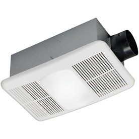 Utilitech 1 5 Sone 80 CFM White Bathroom Fan with Heater and light