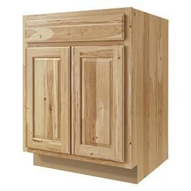 Kitchen Classics 27 in W x 35 in H x 23 75 in D Finished Denver Hickory Door and Drawer Base Cabinet