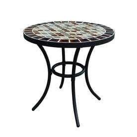 Garden Treasures Pelham Bay 20 in W x 20 in l Round Steel Bistro Table