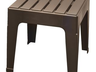 Adams Big Easy Square Brown Polypropylene Stackable Side Table