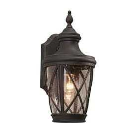 allen   roth Castine 14 41 in H Rubbed Bronze Outdoor Wall light