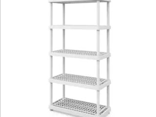 Keter 18 in D x 36 in W x 74 in H 5 Tier Plastic Utility Freestanding Shelving Unit