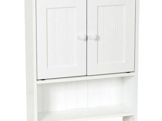 Zenna Home 2 Door Country Cottage Wall Cabinet  White