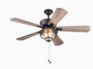 Harbor Breeze Merrimack Ii 52 in Matte Bronze led Indoor outdoor Ceiling Fan