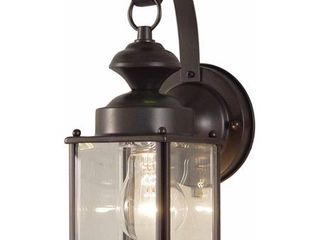 Volume lighting V9271 1 light 11  Height Outdoor Wall Sconce   Bronze