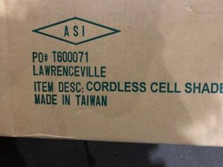 Cordless Cell Shade   6 Pieces