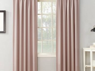 Set of 2 63 x54  Ren Room Darkening Rod Pocket Curtain Panel Blush   Sun Zero