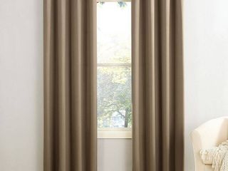 63 x54  Seymour Energy Efficient Grommet Room Darkening Curtain Panel light Brown   Sun Zero