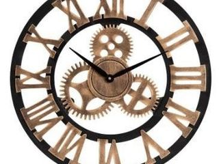 Randolph Industrial Vintage Style Wood Wall Clock Retail 93 99